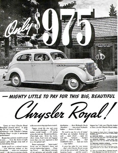 Chrysler Cars -1938A