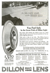 Dillon Car Headlight Lenses -1919A