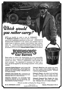 Johnson's Radiator Cement -1920A