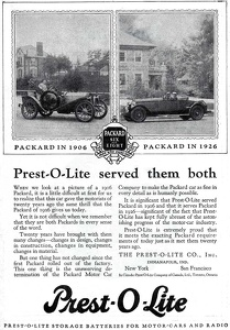Prest-O-Lite Batteries -1926A
