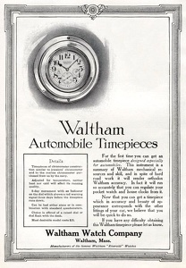 Waltham Automobile Timepieces -1913A