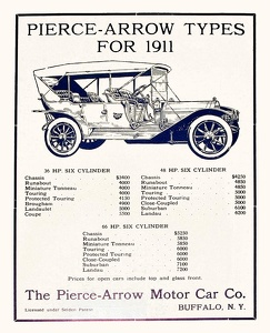 Pierce-Arrow Cars -1911E