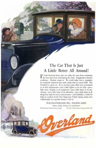 Willys-Overland Cars  -1921A