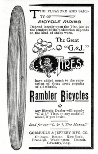 Gormully and Jeffery Bicycle Tires -1896A