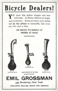 Grossman Bicycle Horns -1903A