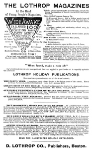 D. Lothrop Company, Publishers -1890A