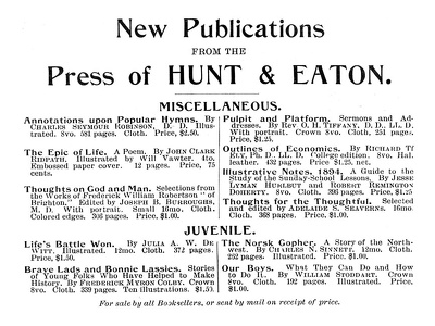 Hunt and Eaton -1893A