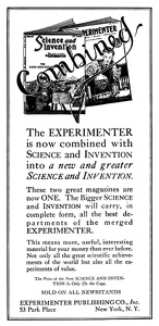 Science and Invention Incorporating Experimenter -1926A