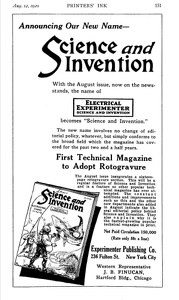 Science and Invention -1920A