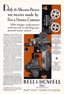 Bell & Howell Movie Cameras -1929A