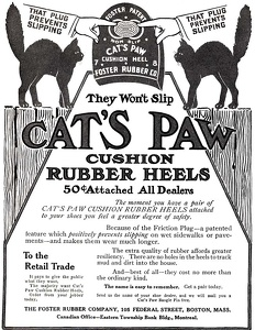 Cat's Paw Rubber Heels -1912A
