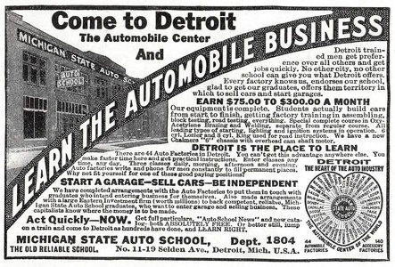 Michigan State Auto School -1916A
