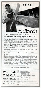 YMCA Aero Mechanics and Auto School -1918A