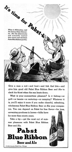 Pabst Blue Ribbon Beer -1935A