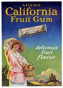 Adams California Fruit Gum -1919D