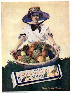 Adams California Fruit Gum -1921A