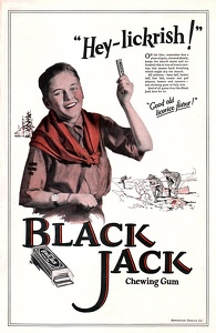Adams Black Jack Gum -1923A
