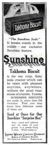 Sunshine Takhoma Biscuits -1913A