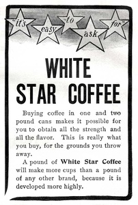 White Star Coffee -1900'sA-2