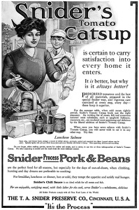 Snider's Catsup -1911A