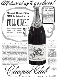 Clicquot Club Ginger Ale -1934A