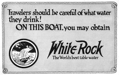 White Rock Table Water -1917A