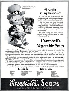 Campbell's Vegetable Soup -1918A