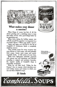 Campbell's Vegetable Soup -1919A