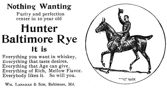 Hunter Rye Whiskey -1909A