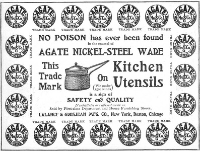 Agate Nickel-Steel Kitchen Utensils -1900'sA