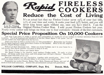 Rapid Fireless Cookers -1911A