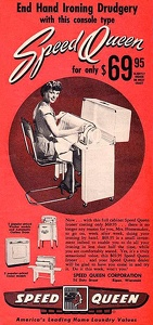Speed Queen Cabinet Ironer -1949A