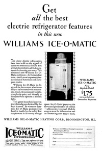 Williams Ice-O-Matic Refrigerators -1930A
