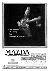 General Electric Mazda Lamps -1919A