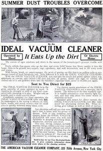 Ideal Vacuum Cleaners -1909A