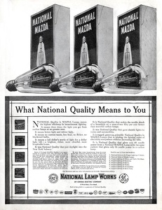 National Mazda Lamps -1913A