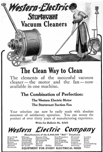 Western Electric Sturtevant Vacuum Cleaners -1912A