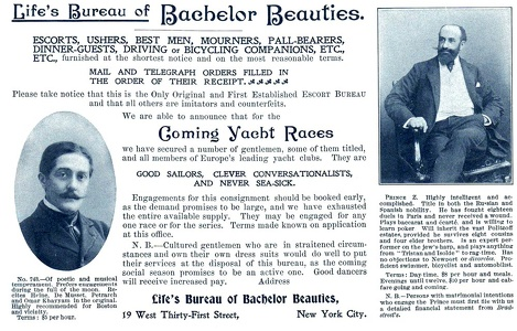 Life's Bureau of Bachelor Beauties -1899A