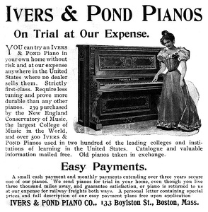 Ivers and Pond Pianos -1900A