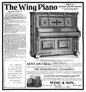 Wing Pianos -1900A