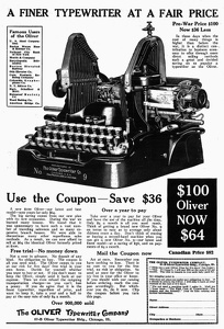 Oliver Typewriters -1921A