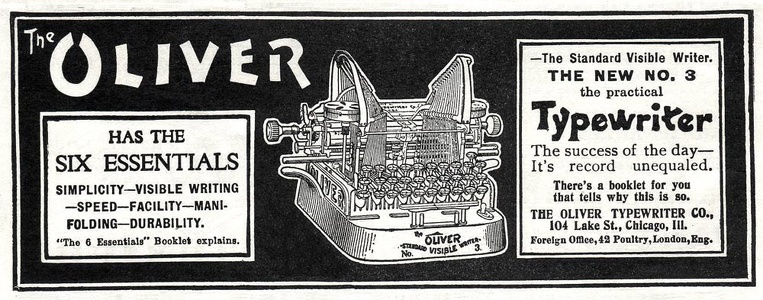 Oliver Typewriters -1902A