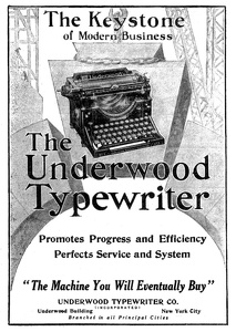 Underwood Typewriters -1913A