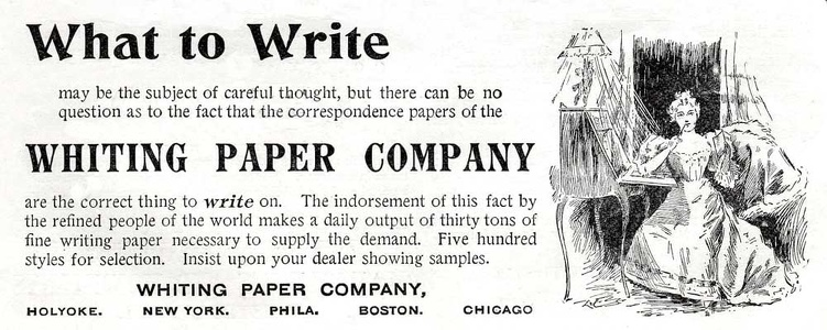 Whiting Paper Company -1896A