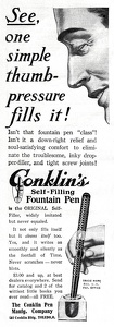 Conklin's Self-Filling Pen -1911A