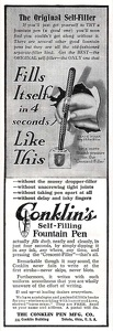 Conklin's Self-Filling Pen -1911B