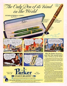 Parker Vacumatic Fountain Pens -1940A