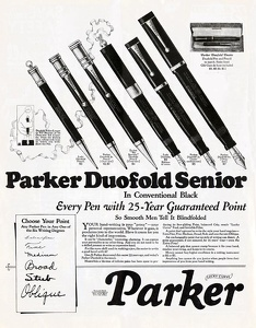 Parker Duofold Fountain Pens -1925A1