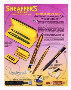 Shaffer Pens and Pencils -1939A