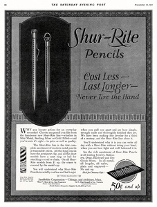 Shur-Rite Pencils -1921A